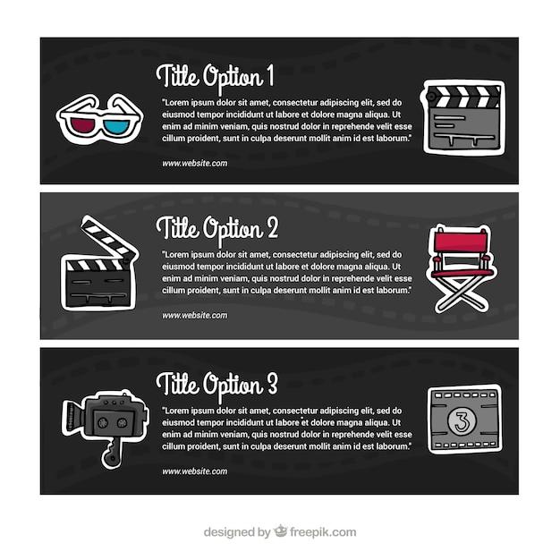 Audiovisuelle banner mit elementen