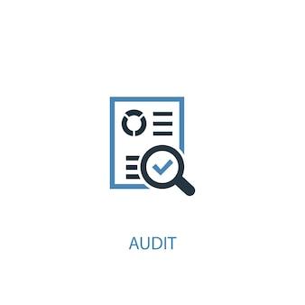 Audit-konzept 2 farbiges symbol. einfache blaue elementillustration. audit-konzept symboldesign. kann für web- und mobile ui/ux verwendet werden