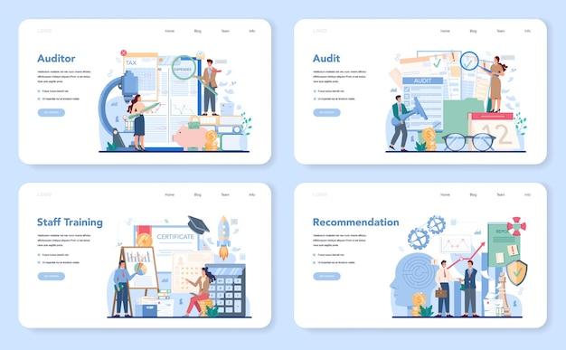 Audit-webbanner oder landingpage-set