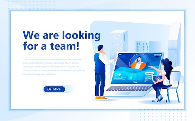 Auf der suche nach einer team-landingpage-vorlage für die homepage