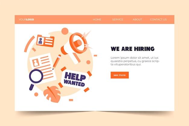 Auf der suche nach jobs stellen wir landing page ein