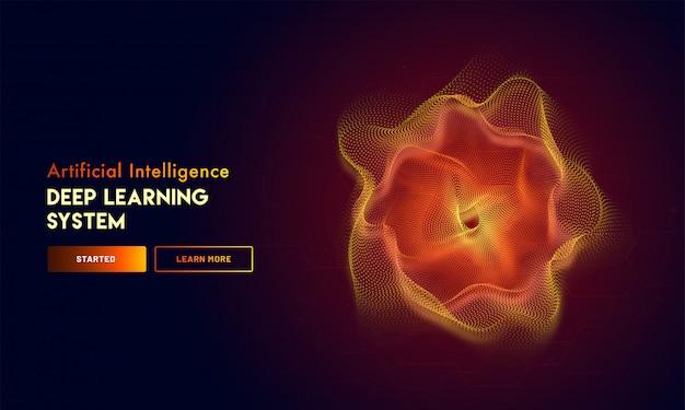 Auf die künstliche intelligenz (ki) reagierende landingpage.