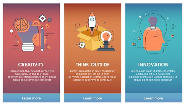 Auf einstiegsbildschirmen für mobile app templates konzept