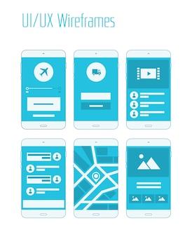 Auf mobile websites und anwendungen reagierende sitemap-vorlagen