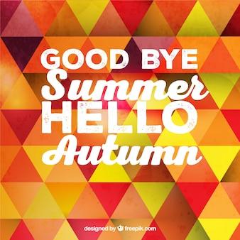 Auf wiedersehen im sommer, hallo herbst