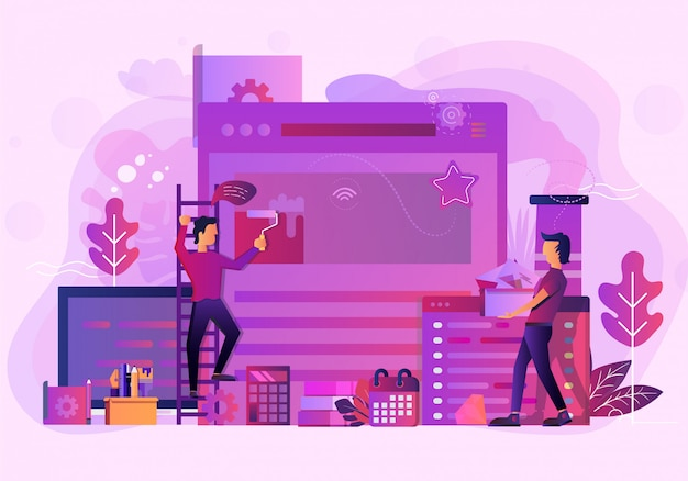 Aufbau der geschäftsstelle-websiteabbildung