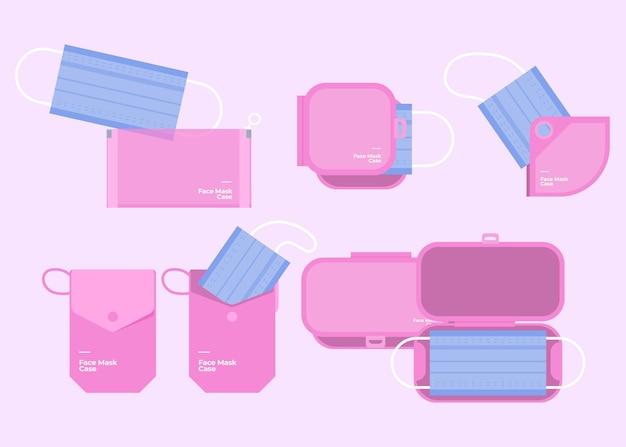 Aufbewahrungskoffer für flache gesichtsmasken