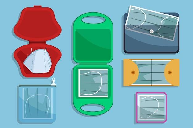 Aufbewahrungskoffer für gesichtsmasken