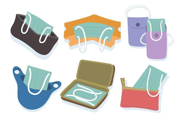 Aufbewahrungskoffer für gezeichnete gesichtsmasken