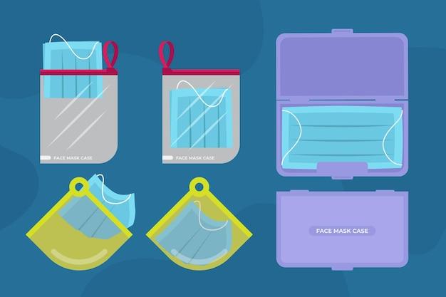 Aufbewahrungskoffer-sammlung der gesichtsmaske