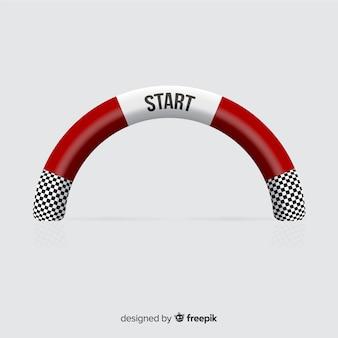 Aufblasbarer startbogen mit realistischem design