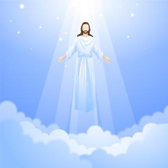 Auferstehung am himmelfahrtstag von jesus