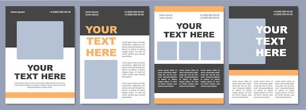 Auffällige broschürenvorlage. hochschulwerbung. flyer, broschüre, broschürendruck, cover-design mit kopierraum. dein text hier. vektorlayouts für zeitschriften, geschäftsberichte, werbeplakate