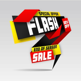 Auffällige flash flash sale template design