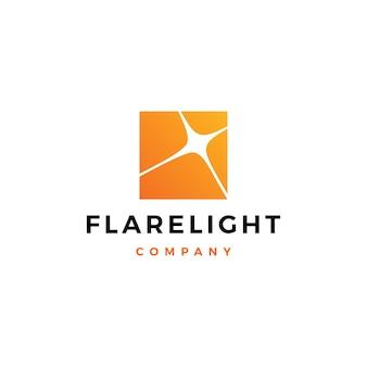 Aufflackern licht logo vektor icon illustration download