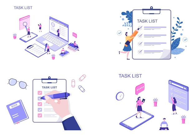 Aufgabenliste vector illustration to do-liste zeitmanagement, arbeitsplanung oder organisation von tageszielen. zielseitenvorlage