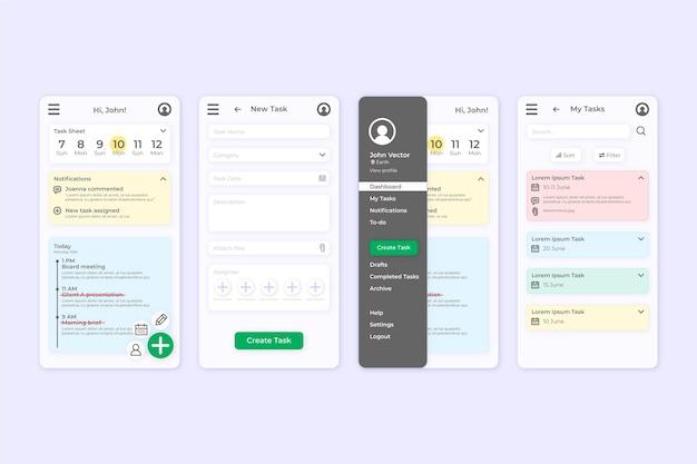 Aufgabenverwaltung app-screes