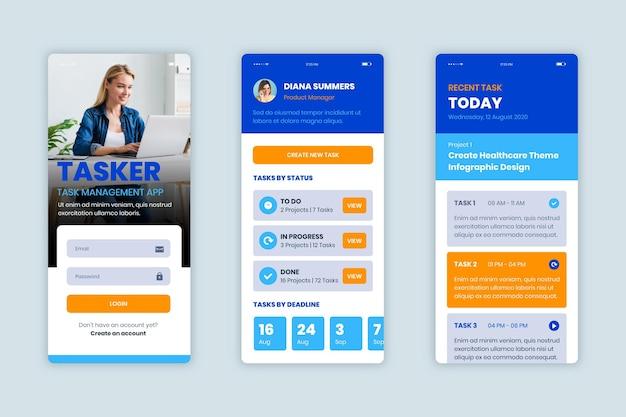 Aufgabenverwaltungs-app-erfassungsvorlage