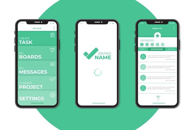 Aufgabenverwaltungs-app-konzept