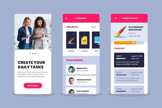 Aufgabenverwaltungs-app-set