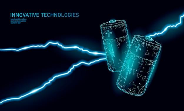 Aufgeladene polygonale alkalibatterie. energiearbeit. gefährliche bedrohungssituation.
