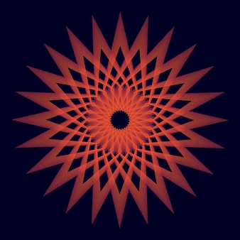 Aufgerundete rote einzigartige heilige geometrie des hintergrundes