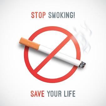 Aufhören zu rauchen bewusstsein banner.