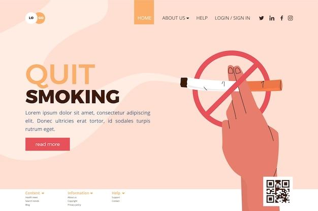 Aufhören zu rauchen landing page
