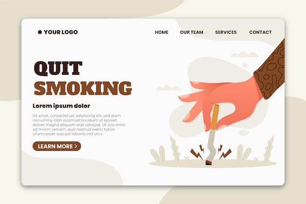 Aufhören zu rauchen landingpage vorlage