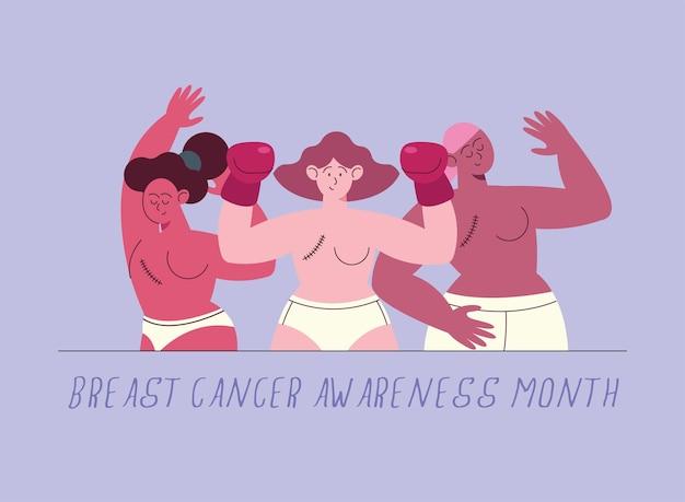 Aufklärungskampagne zum thema brustkrebs