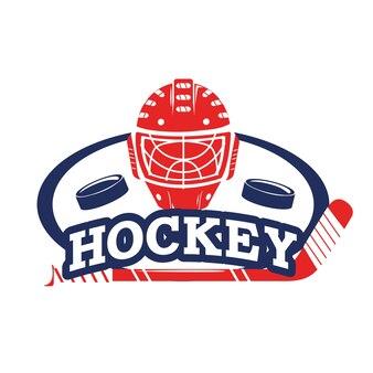Aufkleber mit hockey pucks und helmausrüstung