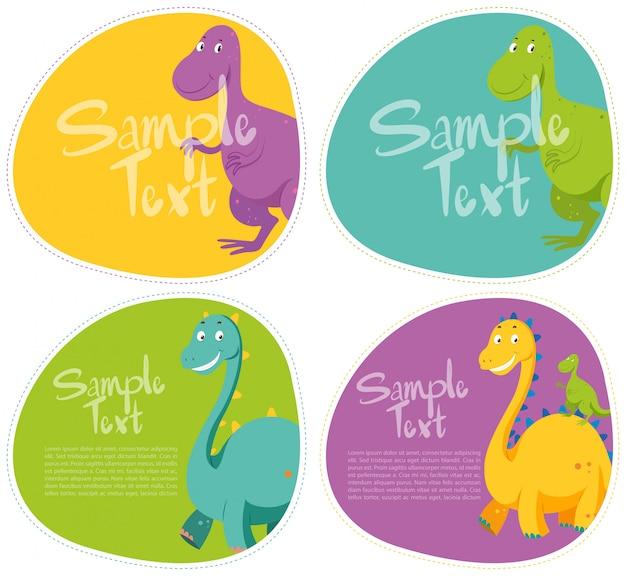 Aufkleber mit süßem dinosaurier