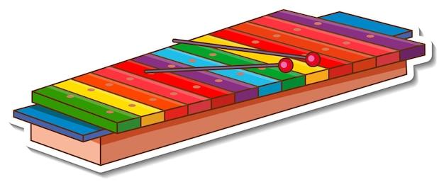 Aufkleber xylophon musikinstrument