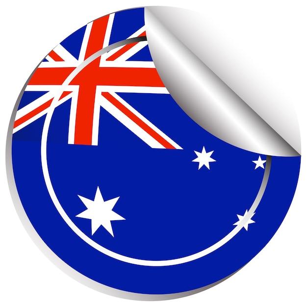 Aufkleberdesign für australien flagge