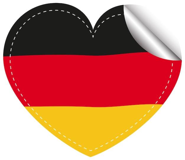 Aufkleberdesign für die flagge von deutschland