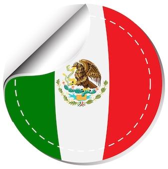 Aufkleberdesign für die flagge von mexiko