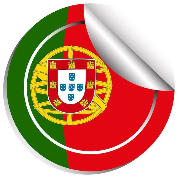 Aufkleberdesign für die flagge von portugal