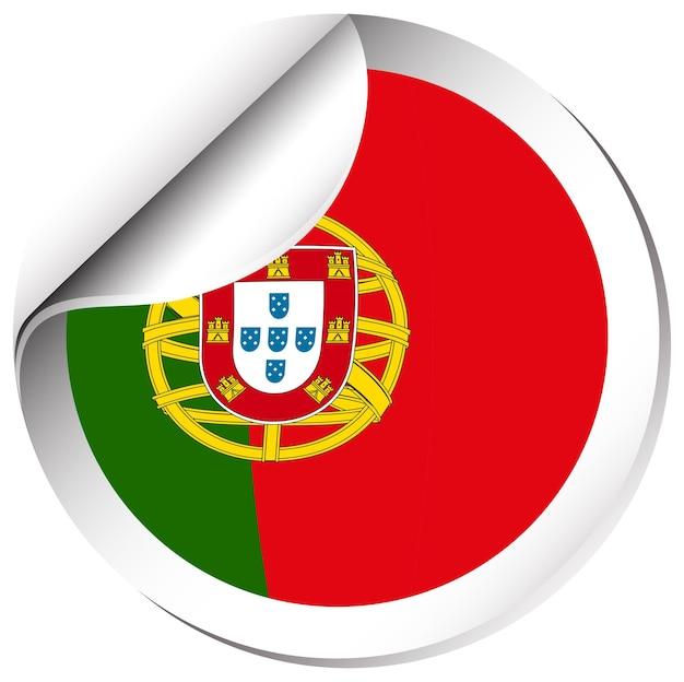 Aufkleberdesign für portugal-flagge