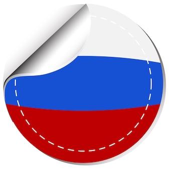 Aufkleberdesign für russland-flagge