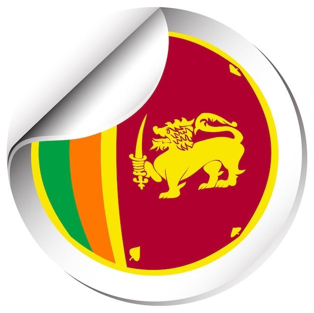 Aufkleberdesign für srilanka-flagge