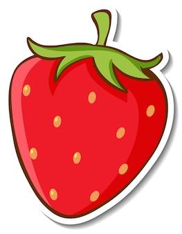 Aufkleberdesign mit erdbeere isoliert