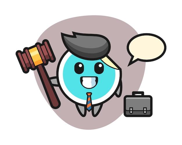 Aufkleberkarikatur als anwalt