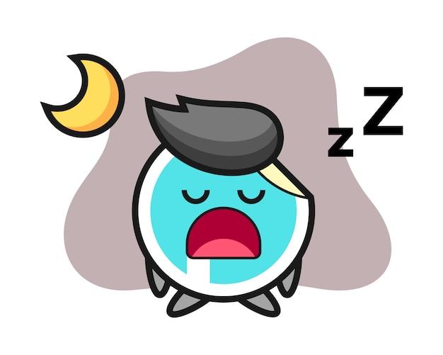 Aufkleberkarikatur, die nachts schläft