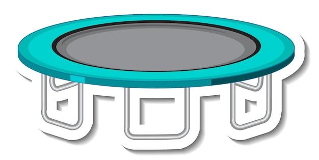 Aufklebervorlage mit trampolin für spielplatz isoliert