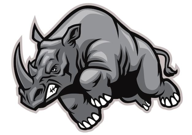 Aufladung rhino maskottchen