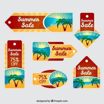 Auflistung der verkauf sommer-tag mit palmen