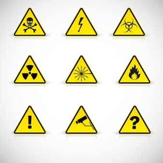 Aufmerksamkeitszeichen. warnung