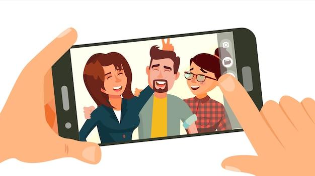 Aufnehmen von fotos auf dem smartphone