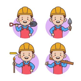 Auftragnehmer avatar porträt illustration
