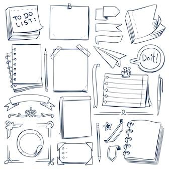 Aufzählungszeichen-skizzenelemente